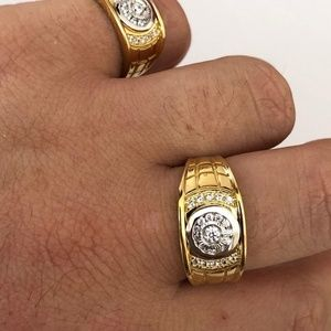 NWT 14K Gold over Solid 925 Silver MENS RING Nice!